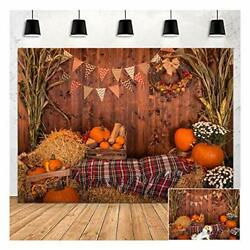 Fall Thanksgiving Photography Backdrop Rustic Wooden Floor Barn Harvest 5x3ft $11.01