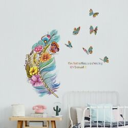 PVC Feather Butterfly Birds Wall Sticker Home Wall Living Room Decor Remaveable C $15.39