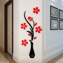 Family Vase Plum Tree Wall Decals 3D DIY Wall Sticker Mural Home TV Decor US $9.99