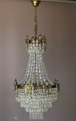 Oriental French Empire Crystal Chandelier Antique Vintage Lighting Pendant Lamp GBP 799.00