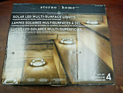 Sterno Home Solar Multi Surface LED Light 4 pack with Ground Stakes