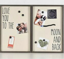 Fetco Home decor 2 PCS Set 18x12 Collage Love You to the Moon and Back NEW $12.99