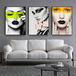 Fashion Lady Picture Canvas Art Print Wall Living Room Decor Unframed Poster C $4.47