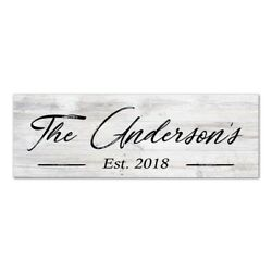 Personalized Wood Sign Rustic Looking Wall Decor Wedding Gift B3 06180063001 $29.95