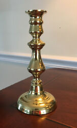 """8"""" Baldwin Brass Candlestick Holder Round Base Colonial Country Farmhouse $29.99"""