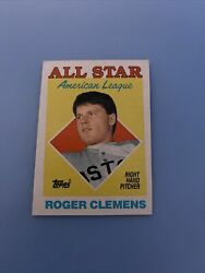 Vintage ROGER CLEMENS 1988 Topps #394 American League All Star NM $300.00