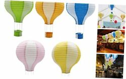 Hanging Hot Air Balloon Paper Lanterns Set Party Decoration Multi Color $17.74