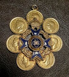British Royal Army Chaplains Medal Hand Made Necklace With Canadian Coins $35.00