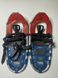 TUBBS SNOWSHOES 21 Inch Snow Shoes Made in USA Aluminum Pair $55.00