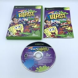Nickelodeon Party Blast Microsoft Xbox 2002 Complete With Manual CIB $11.95