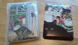 Cat Lovers Collectors Decorative Light Switch Covers Lot Of 2