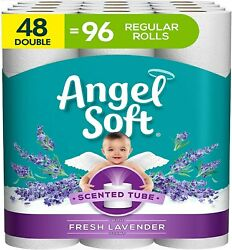 Angel Soft Toilet Paper with Fresh Lavender Scent 48 Double Rolls= 96 Regular R $31.98
