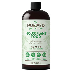 Purived Liquid Fertilizer for Indoor Plants 20oz Concentrate Makes 50 Gallon $31.99