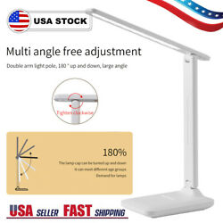 Dimmable LED Desk Lamp Eye Caring Reading Light Touch Control USB Rechargeable $13.48