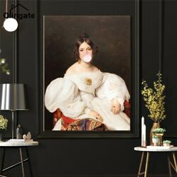 Women Chewing Bubble Gum Canvas Wall Art Painting Living Room Home Decor Poster $2.99