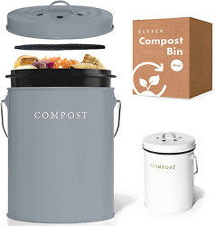 Compost Bin Kitchen Charcoal Filters Stainless Steel Countertop Compost Bin With $38.99