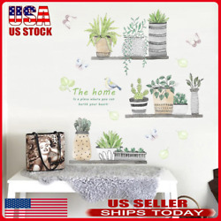 Removable Daily Waterproof PVC Plants Wall Stickers Home Kids Bedroom Decal $8.97