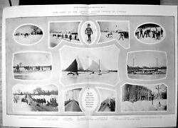 Antique Print Winter Sports Canada Ski Running Snow Shoes Skating Race 1903 GBP 29.14