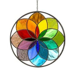 20cm Rainbow Stained Hanging Pendant Clearance For Outdoor Wall Art Sun Decor $14.38