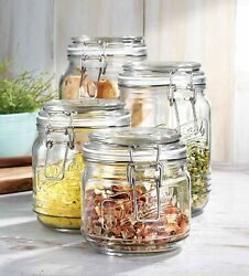 Glass Jars Set Of 4 Kitchen Canisters – By Home Essentials And Beyond – Ideal $37.79