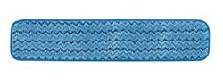Rubbermaid Commercial Products Microfiber Damp Mop Pad 24 inch Blue FGQ41100BL00