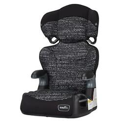 Evenflo Big Kid LX High Back Booster CarSeat Abstract Static Black Safety Travel $51.73