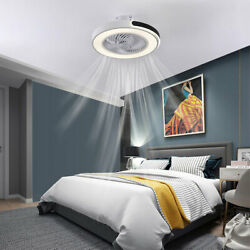 20quot; Modern Simple Fan Light Ceiling LED lights White Indoor Chandelier Dimmable $179.90