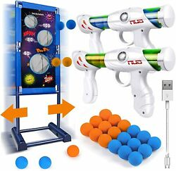 Gun Toy Gift for Boys Kids Girls for Birthday with Moving Shooting Target 2 Blas $45.59