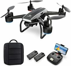 D50 Selfie Drones with 2K UHD Camera FPV quadcopter Live Video2 batteries Gift $79.99