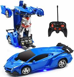 Car Robot for Kids Transformation Car Toy Remote Control Deformation Vehicle Mo $34.99