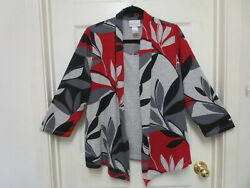 NWOT ALFRED DUNNER LADIES SIZE L SOFT KNIT TOP WITH JACKET LOOK $18.00