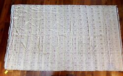 RARE VINTAGE 1940'S SILK METALLIC THREAD WOVEN SILK BROCADE SARI 3 12 YDS 67