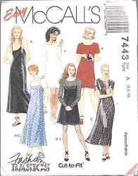 7443 Vintage UNCUT McCalls Pattern Misses Dress Slip Dress SEWING OOP