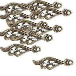 Wing Charms Chandelier Drops 23mm Steampunk Antiqued Brass Findings Lot of 20 $11.95