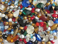 325 VINTAGE GLASS RHINESTONES amp; SOLID STONE LOT REPAIR JEWELRY LOOSE ASSORTMENT $9.99