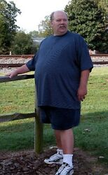 Big & Tall Cotton Tee. Sizes 4 XLT to 8XLT. With & without pockets. MADE IN USA $17.95