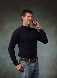 Adult Mock turtleneck Long Sleeve Top.100% cotton. Size S to 3XL. Made in USA $15.95