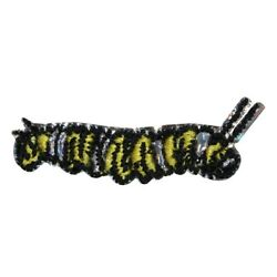 ID 0451 Fuzzy Yellow Caterpillar Patch Garden Bug Embroidered Iron On Applique $5.99