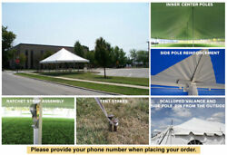 15x15 White Vinyl Classic Pole Tent for Wedding Outdoor Event Party Catering