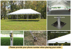 10x30 White Vinyl Classic Frame Tent for Wedding Outdoors Event Party Catering