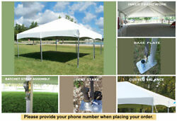 20 x 20 Master Series Frame Tent for Wedding Outdoors Party For Sale