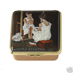 HALCYON DAYS -NORMAN ROCKWELL GIRL AT THE MIRROR-LE BOX