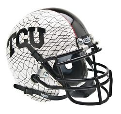 TCU HORNED FROGS ALTERNATE WHITE REPLICA XP SCHUTT FULL SIZE FOOTBALL HELMET