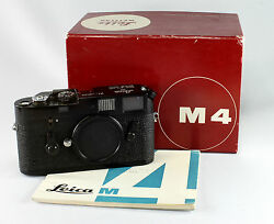 Leica M 4 #1266015 black enamel in original box with instructions