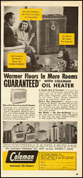 1949 vintage ad for Coleman Oil Heaters 071512 $9.99
