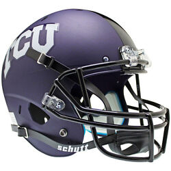 TCU HORNED FROGS PURPLE CROSS HATCH SCHUTT XP FULL SIZE REPLICA FOOTBALL HELMET