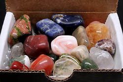 Tumbled Stone Collection 12 lb Polished Mineral Mix Natural Colors