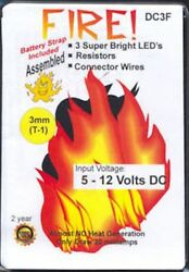 Dollhouse Mini Battery Operated 3mm Flashing Fire Kit Doll House Miniatures $10.95