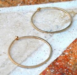 14K Small Gold Filled Hand Hammered Huggie Hoops $20.00