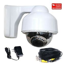Dome Security Camera CCD Outdoor Night Vision Home Video Varifocal Zoom Lens crk